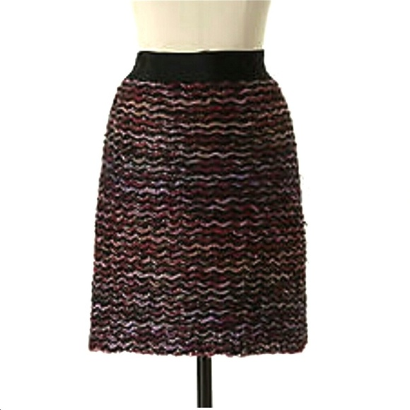 Anthropologie Dresses & Skirts - Knitted & Knotted Anthro Purple Sweater Mini Skirt